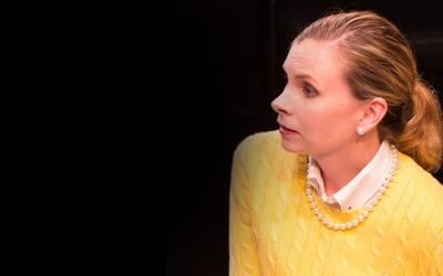 Jen Rabbitt Ring as Amy in She Rode Horses Like the Stock Exchange. Photo by Teresa Wood.